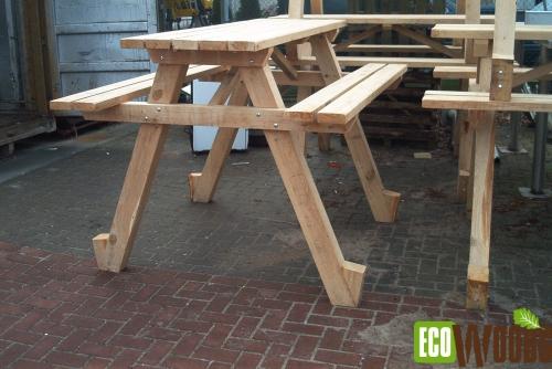 Eiken picknicktafel op maat