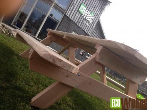 Natuurlijke opklapbare picknickbank