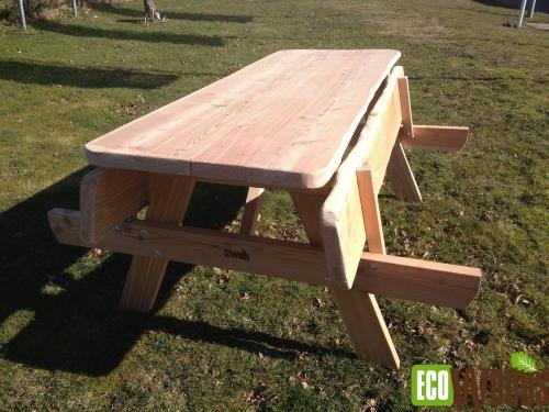Eenvoudig opklapbare picknicktafel
