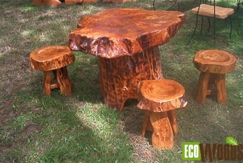 Ronde tafel met krukjes
