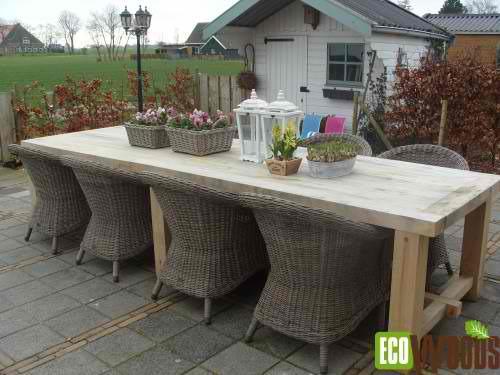 Lange tafel 280 cm kastanje