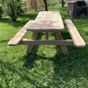 Eiken robuuste picknicktafel