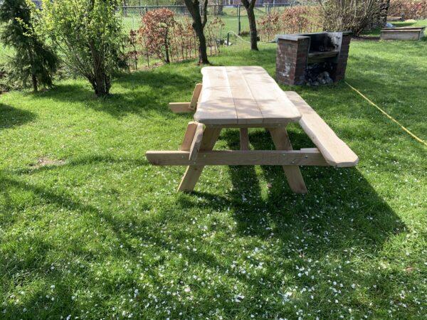 Eiken picknicktafel